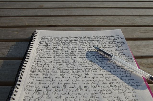 lyrics for writing a song